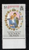 Royal Wedding Optd S/Cyclone R Fund 1981 UMM - Solomon Islands (1978-...)