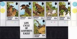 Sanford's Eagle 1982 UMM Strip Of 5 +1 - Solomon Islands (1978-...)