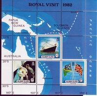 Royal Visit 1982 UMM M/S - Solomon Islands (1978-...)