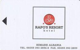 "ALBANIA - Rapo""s Resort(reverse CoverTech), Hotel Keycard, Sample(no Chip) - Hotelsleutels (kaarten)"
