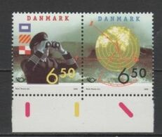 (S1725) DENMARK, 2002 (Nordic Cooperation Issue. Shipping). Complete Set. Mi ## 1186-1187. MNH** - Nuovi