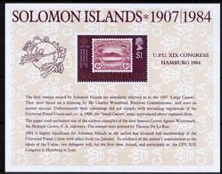 UPU XiX, 1984 UMM M/S - Solomon Islands (1978-...)