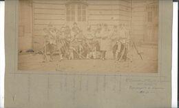 Guerre 1870 - 1871   2 ème Escouade 1 ère Compagnie De Guerre 85 ème Bataillon Cie De Marche   Phot. 16, 5 X  28 Cm - Anciennes (Av. 1900)