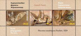 Kyrgyzstan 2020 Fauna Bats SS Of 3v MNH - Fledermäuse