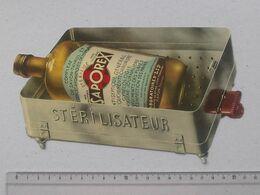 Publicité Médicale Cartonnée 1939 (genre Découpis) SAPOREX Antiseptique - Stérilisateur Docteur Demande D'échantillon - Pubblicitari