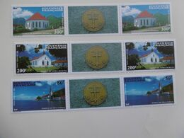 POLYNESIE   PA193/195A  * *  EDIFICES RELIGIEUX - Unused Stamps