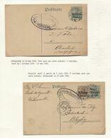 REF1875/ Entier CP 5 Centimes&5 Cent + TP C.Welkenraedt 20/5/&24/6/1916 Censure Verviers > Aubel & Bleyberg C.d'arrivée - WW I