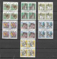 1990/93  N° 789 à 795   BLOCS DE 4 OBLITERES   VENDU à 12%   CATALOGUE  ZUMSTEIN - Oblitérés