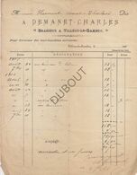 Villers-le-Gambon/Philippeville Factuur Demanet Charles, Brasseur 1906 Brasserie/Brouwerij (U223) - 1900 – 1949