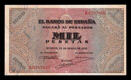 España Spain 1000 Pesetas Burgos 1938 Pick 115 Serie A MBC+ VF+ - [ 3] 1936-1975 : Regime Di Franco