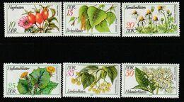 DDR - N°1957/62 ** (1978) Plantes Officinales - Plantas Medicinales