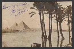 Egypt - 1906 - RARE - Registered - Vintage Post Card - Pyramids - 1866-1914 Khedivate Of Egypt