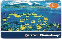 Australia - PhoneAway - Great Barrier Reef, Fishes, Exp.02.2005, Remote Mem. 5$, Used - Australie