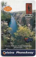 Australia - PhoneAway - Nitmiluk, National Park, Exp.01.2002, Remote Mem. 10$, Used - Australie