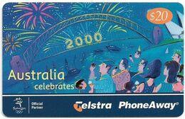 Australia - PhoneAway - Millennium, Australia Celebrates 2000, Exp.12.2002, Remote Mem. 20$, Used - Australie