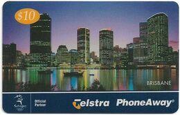 Australia - PhoneAway - City Lights, Brisbane, Exp.01.2002, Remote Mem. 10$, Used - Australie