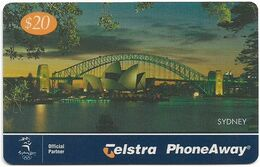 Australia - PhoneAway - City Lights, Sydney, Exp.06.2002, Remote Mem. 20$, Used - Australie