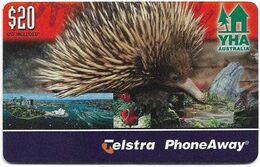 Australia - PhoneAway - Youth Hostels Association YHA, Exp.06.2004, Remote Mem. 20$, 7.500ex, Used - Australie