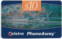 Australia - PhoneAway - Landscapes, Outback Stream, Exp.09.1998, Remote Mem. 10$, Used - Australie
