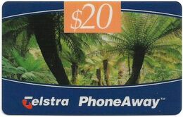Australia - PhoneAway - Landscapes, Tree Ferns, Exp.09.1998, Remote Mem. 20$, Used - Australie