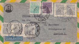 "BRESIL. CIRCULEE ""S. BERG & CIA"" PORTO ALEGRE A ZUERICH, SUISSE. ANNEE 1949, PAR AVION -LILHU - Lettres & Documents"