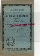 75 - PARIS - LYCEE CONDORCET TABLEAU D' HONNEUR- M. GUILLOT CLASSE DE 1ERE -1915-1916  UNIVERSITE DE FRANCE - Documenti Storici