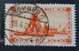 Michel 116, (80 Centimes 1927), Perfekter Rundstempel Homburg - Yvert 115 - Scott 129 - Gebraucht