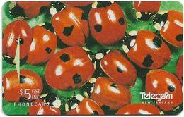 New Zealand - NZT (GPT) - Promotional Cards 1995 VIP Christmas - Ladybirds - ADDB - 1995, 5$, 75.200ex, Used - Nuova Zelanda