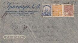 "BRESIL. CIRCULEE ""IPIRANGA S.A."" RIO GRANDE A BUENOS AIRES, ARGENTINE. ANNEE 1939, RECOMMANDE, PAR AVION -LILHU - Storia Postale"