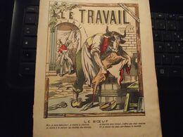 Protège Cahier,  LE TRAVAIL, Le BOEUF, Fin XIX - Book Covers