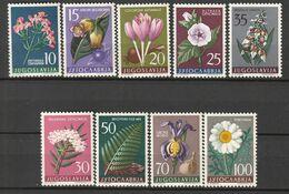 YOUGOSLOVAQUIE - N°714/22 ** (1957) Plantes Médicinales - Plantas Medicinales