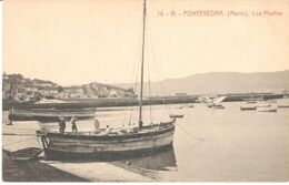 POSTAL  -PONTEVEDRA  -GALICIA  - LOS MUELLES - Pontevedra