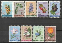 YOUGOSLOVAQUIE - N°843/51 ** (1961) Plantes Médicinales - Plantas Medicinales