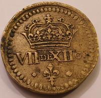 Poids Monétaire  De Louis XIII   VII De XII GR  Bronze   Sans Date - Coins