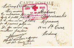 France, Croix Rouge UFF, Hopital Auxiliaire De Monrepos à Cenon- Floirac ( Gironde )   TB - WW I