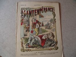 Protège Cahier,  L'INTEMPERANCE, LE COCHON  ,  Fin XIX - Book Covers