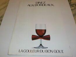 ANCIENNE PUBLICITE DINEZ AUX BORDEAUX  1984 - Alcohols