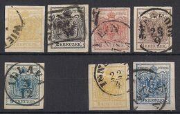 Autriche - Osterreich – N°1-5 (papiermachine) Obl/used - 1850-1918 Empire