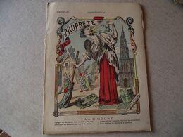 Protège Cahier,  La Propreté, La CIGOGNE  ,  Fin XIX - Book Covers
