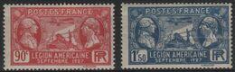 FR 1791 - FRANCE N° 244/45 Neufs* Légion Américaine - Ongebruikt