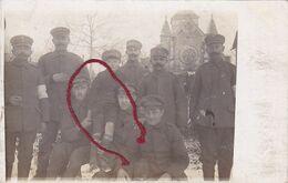 ( 08 ) - Tagnon Vor Der Kirche  Carte Photo Allemande 1° Guerre - Frankreich