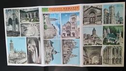 VIEUX PAPIERS - PLANCHE DOCUMENTAIRE DIDACTO PAR M. SABIN - EGLISES ROMANES - Picture Cards