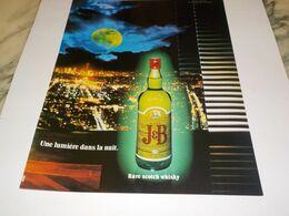 PUBLICITE  SCOTCH  WHISKY J B  1982 - Alcohols