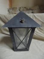 Ancien - Luminaire Incomplet - Lanterne Style Fer Forgé - Années 60 - Luminari