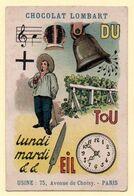 Chromo Rébus, Chocolat Lombart. La Raison Du Plus Fort ...... - Lombart