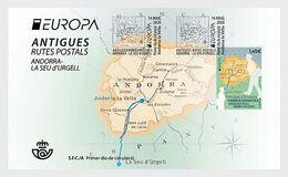 Spanish Andorra 2020 - Europa 2020 - Ancient Postal Routes FDC - Andorra Española
