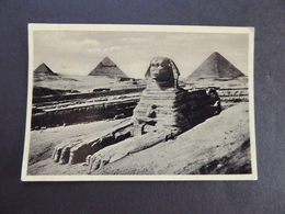 CARD VINTAGE  No-33 CAIRO. SPHINX AND PYRAMIDS - Luoghi