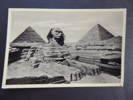 CARD VINTAGE  No-35 CAIRO. THE EXCAVATED SPHINX - Luoghi