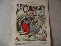 Protège Cahier,  Le COURAGE , Le LION   ,  Fin XIX - Book Covers