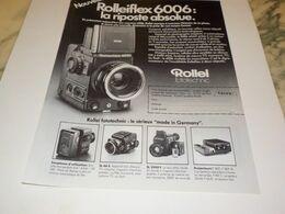 ANCIENNE PUBLICITE APPAREIL PHOTO ROLLEI 1984 - Fotografía